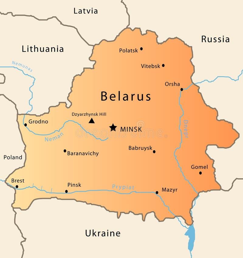 Witrussische kaart royalty-vrije illustratie