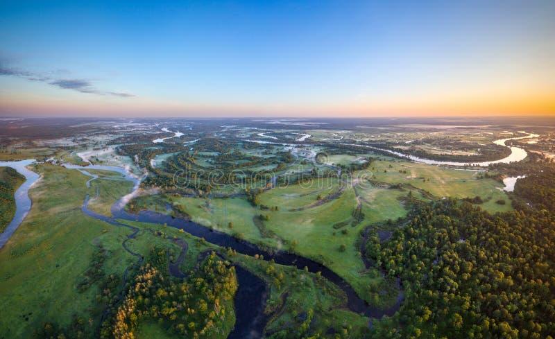 Witrussische rivier royalty-vrije stock foto's