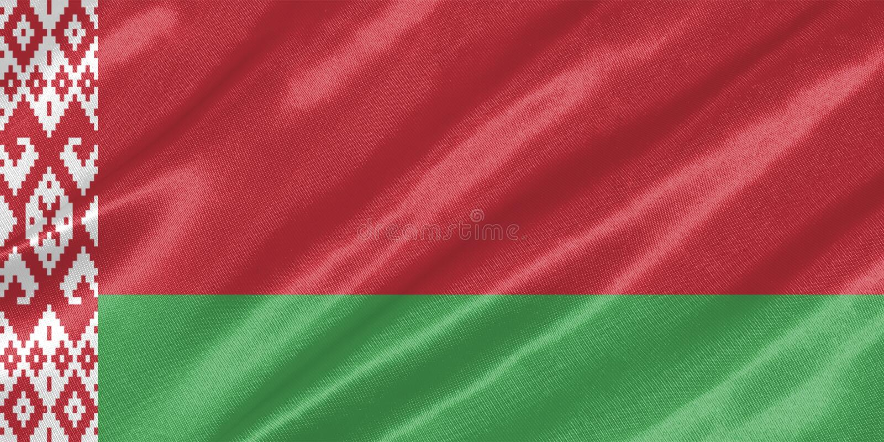 Witrussische Vlag stock foto's