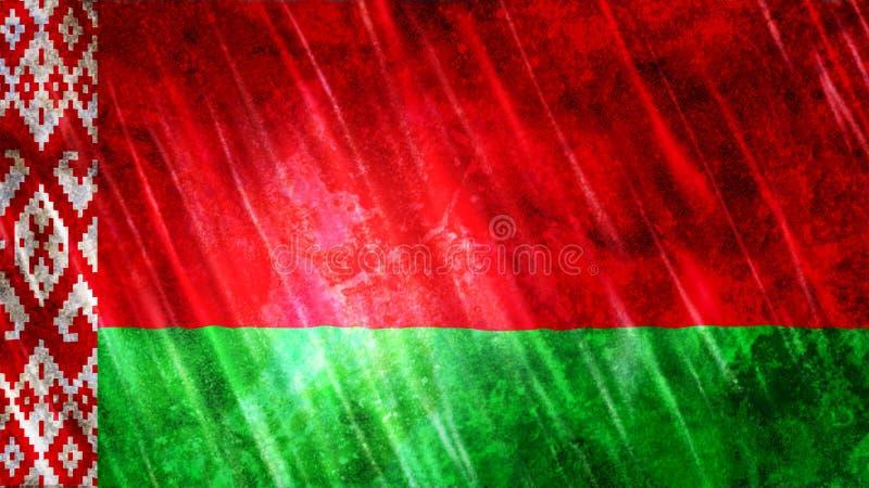 Witrussische Vlag stock foto