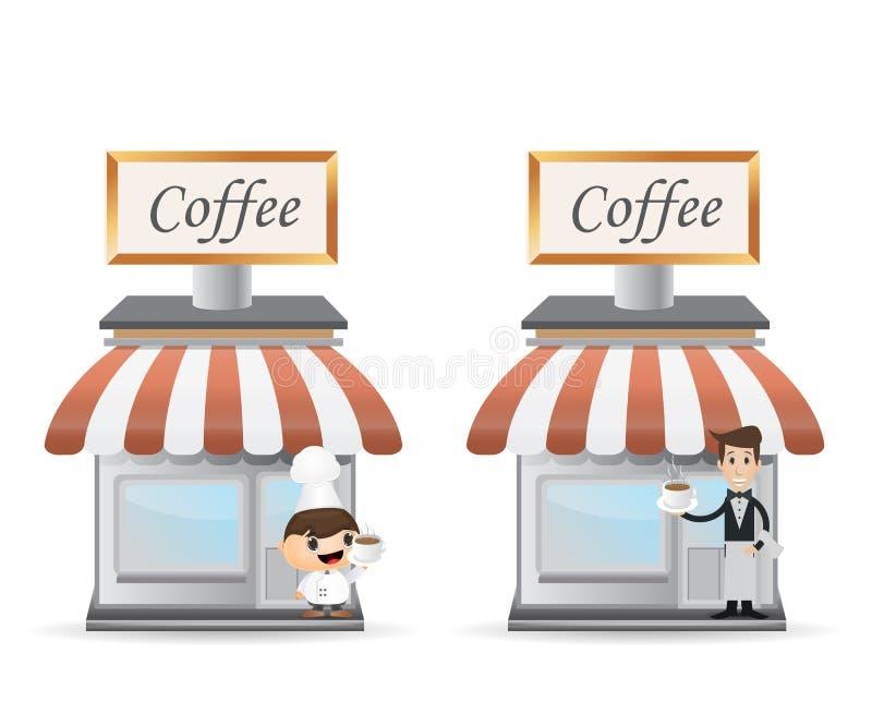 Download Witryny sklepowej kawa ilustracja wektor. Ilustracja złożonej z napój - 57672140
