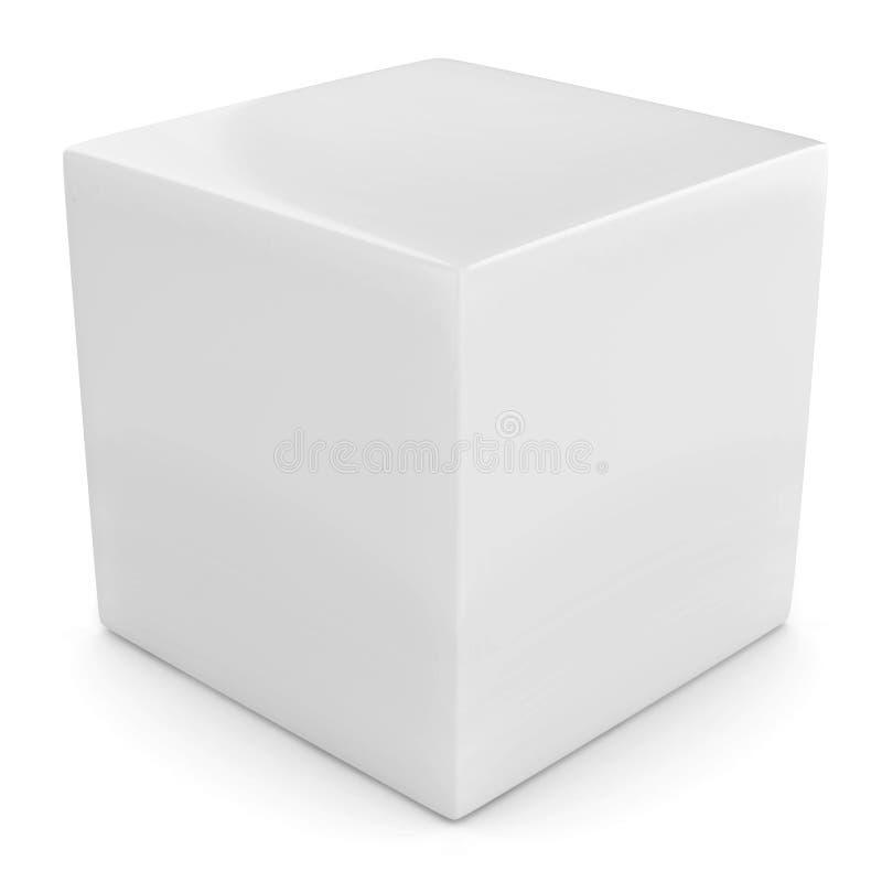 Witte 3d kubus vector illustratie