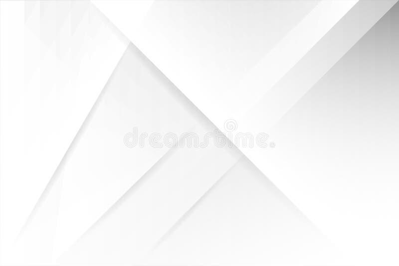 Witte Abstracte achtergrond geometrisch ontwerp de witte en grijze moderne achtergrond van de gradi?ntkleur stock foto