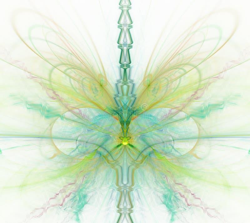 Witte abstracte achtergrond met groene regenboog -, turkoois, yello royalty-vrije illustratie