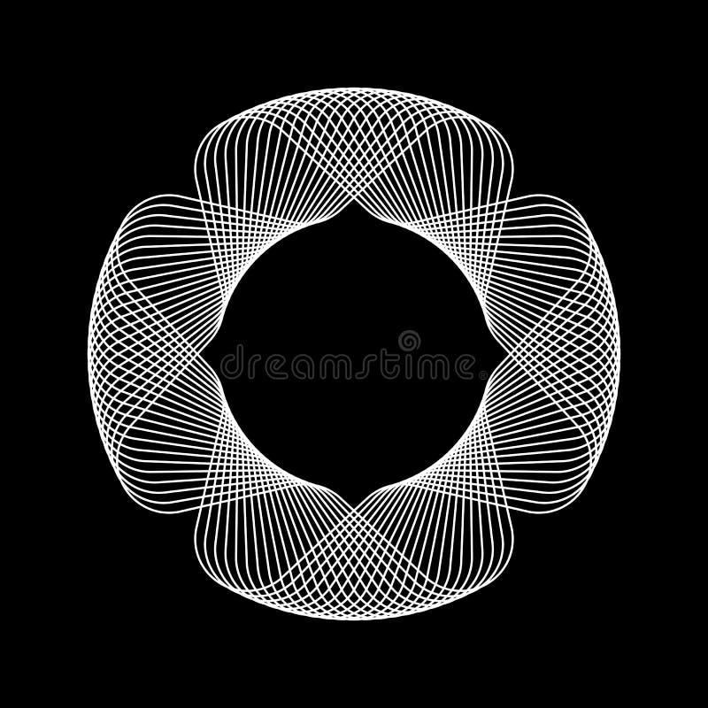 Witte Abstracte Fractal Vorm stock illustratie