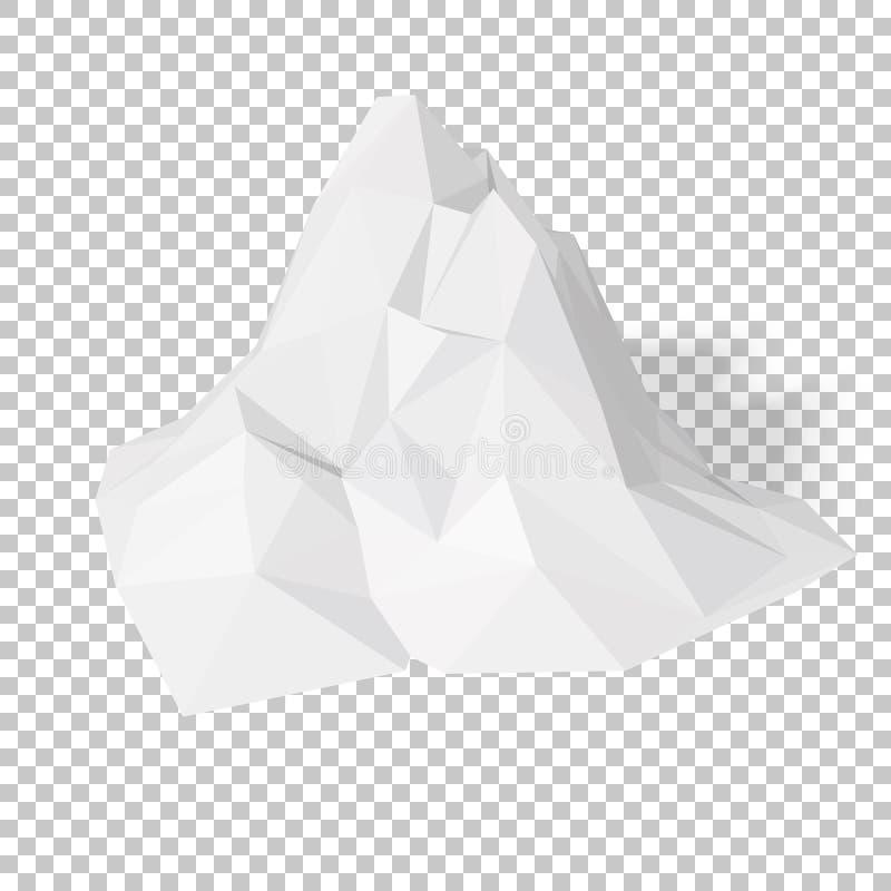 Witte Abstracte Veelhoekige Achtergrond stock illustratie