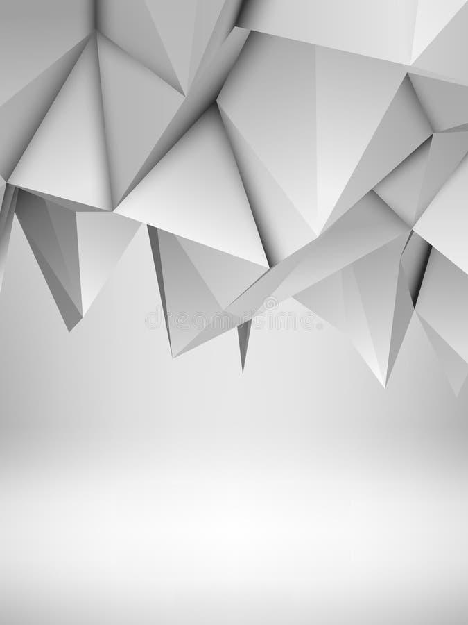 Witte Abstracte Veelhoekige Achtergrond vector illustratie