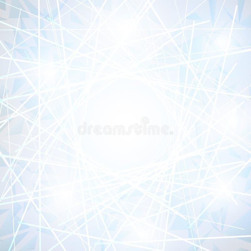 Witte Abstracte veelhoekige ruimte lage polyachtergrond stock illustratie