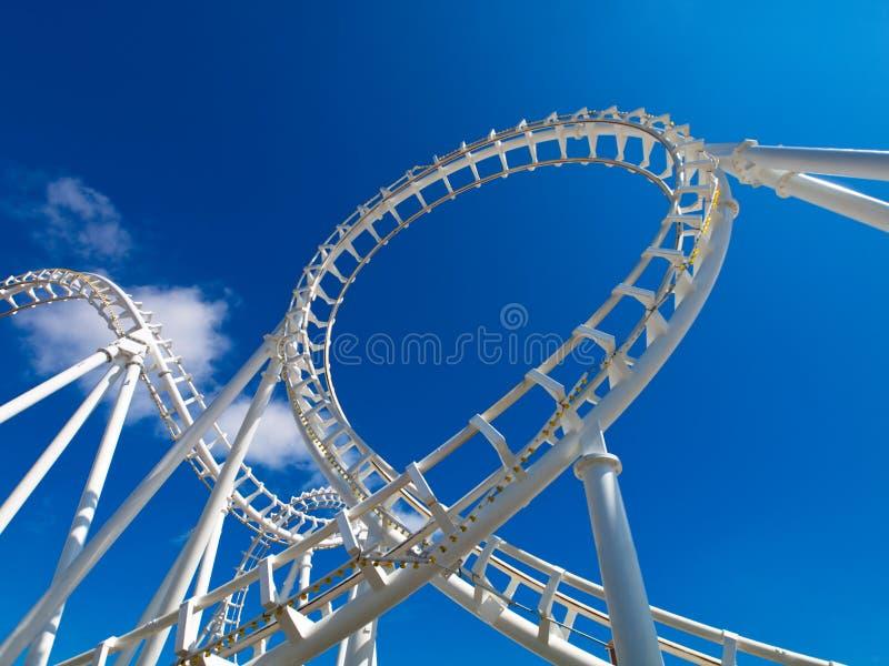 Witte achtbaan royalty-vrije stock foto's