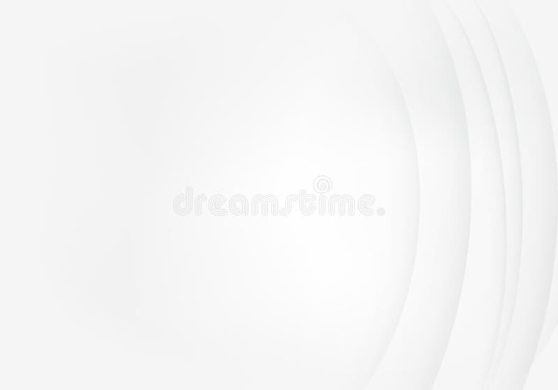Witte achtergrond met abstract de lijnpatroon van de schaduwgolf Vector golvende illustratie vector illustratie