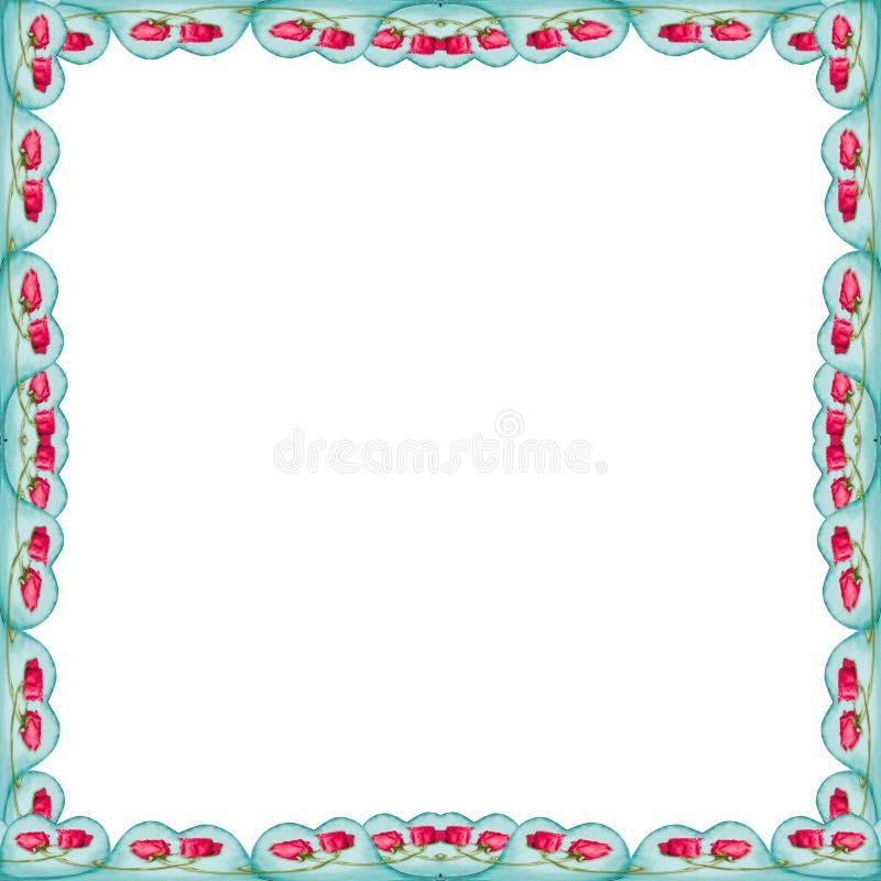 Witte Achtergrond met de Grenzen van het Liefdemotief royalty-vrije stock afbeelding