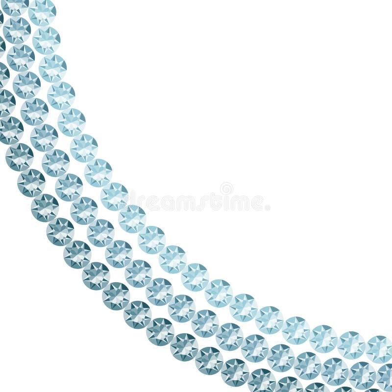 Witte achtergrond met diamanten vector illustratie