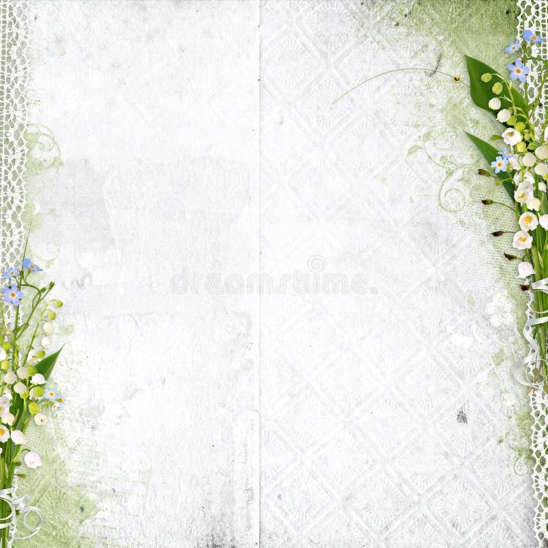 Witte achtergrond met lelietje-van-dalen vector illustratie