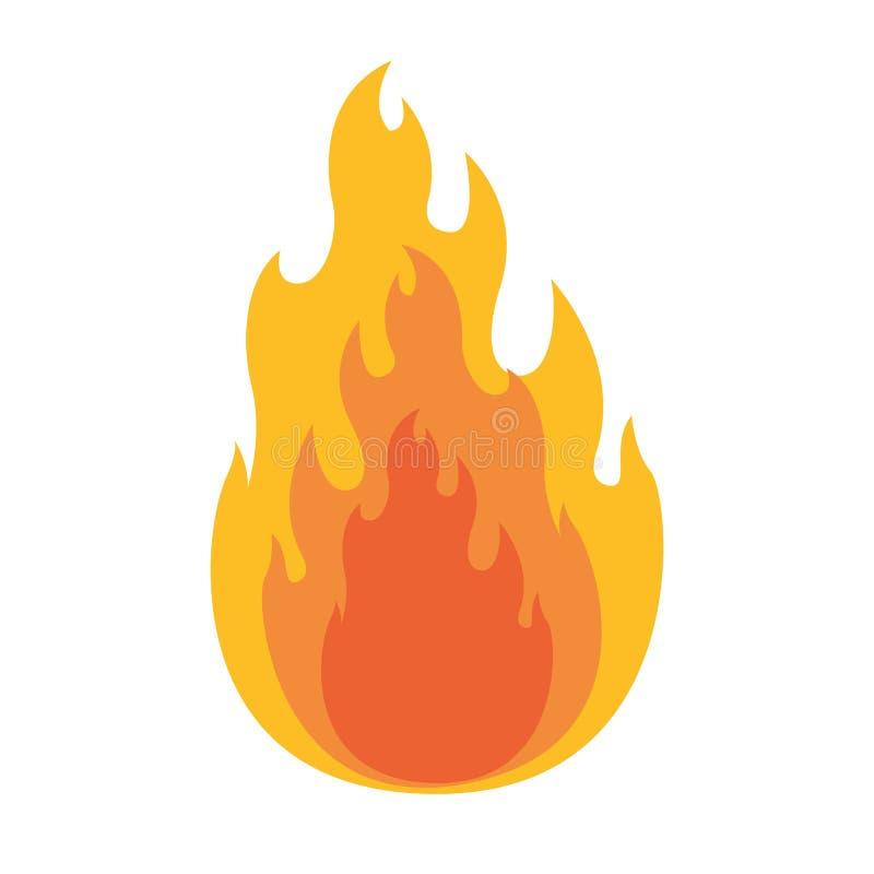 Witte achtergrond met vlam in close-up stock illustratie
