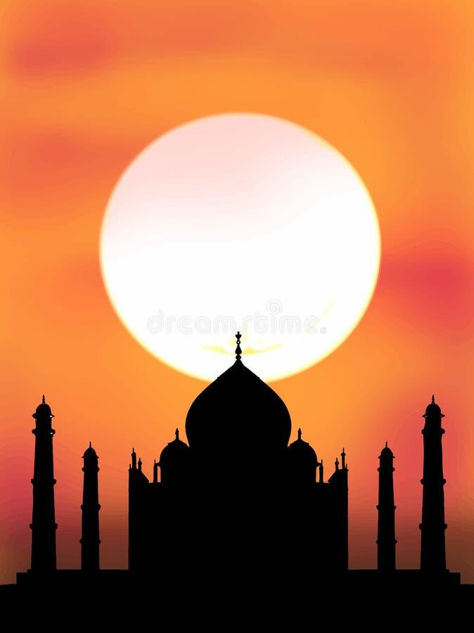 Witte achtergrond van de Taj de mahal illustratie royalty-vrije illustratie