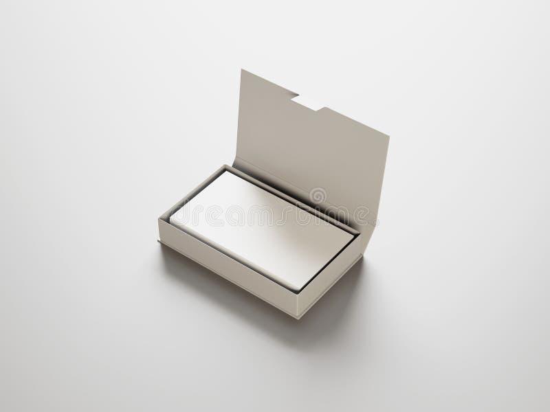 Witte adreskaartjes in de witte doos stock fotografie