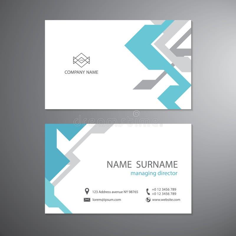 Witte adreskaartjes geplaatst malplaatje vectorontwerp royalty-vrije illustratie
