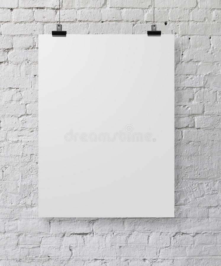 Witte affiche stock afbeelding