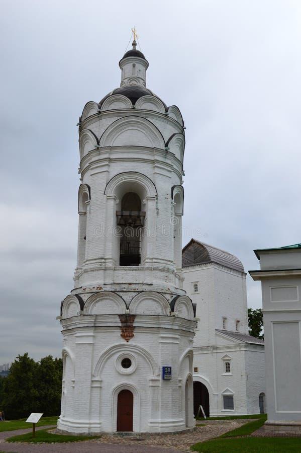 Witte antieke klokketoren, monument royalty-vrije stock foto