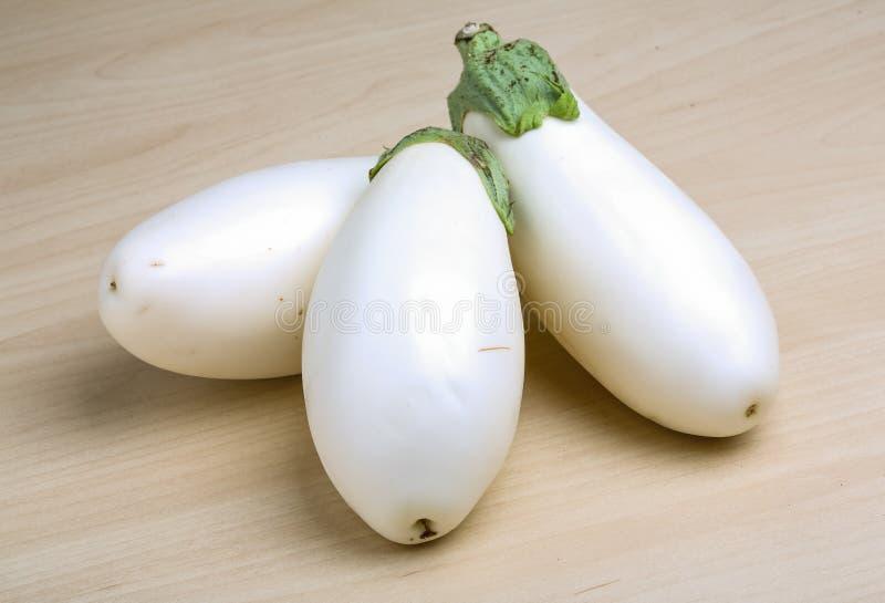 Witte aubergines stock afbeelding