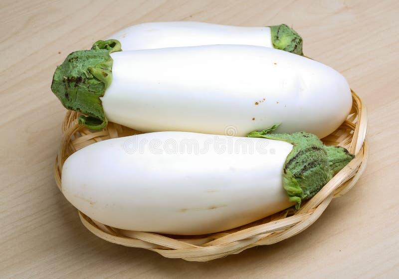 Witte aubergines stock foto