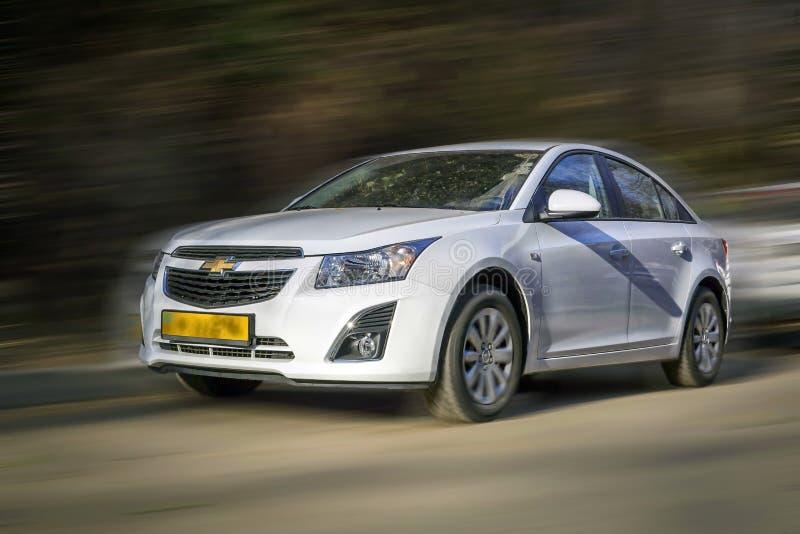 Witte auto Chevrolet stock fotografie