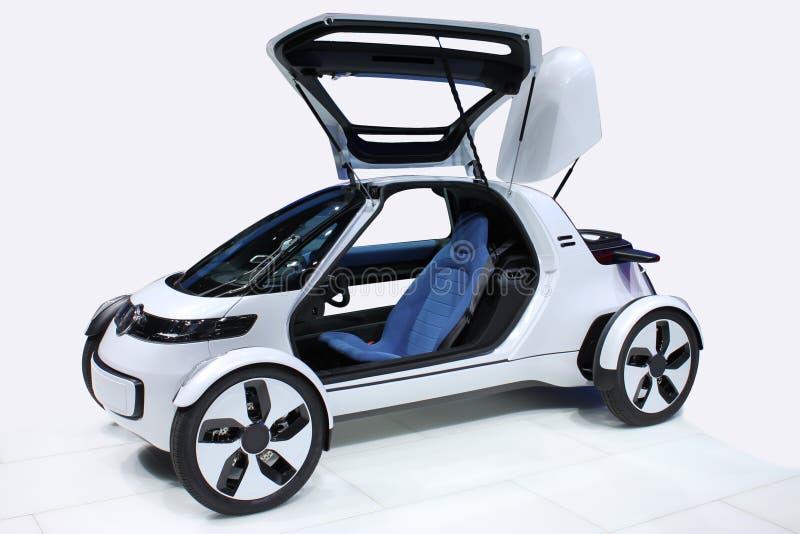 Witte auto van de toekomst stock foto