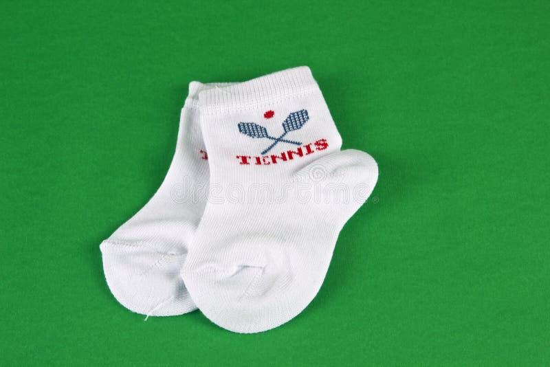 Witte babysokken royalty-vrije stock fotografie