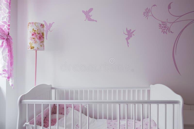 Witte babywieg stock fotografie