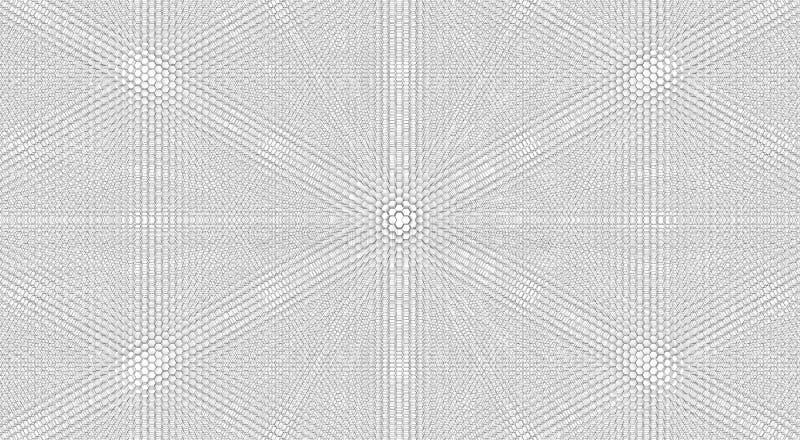 Witte bacground, honingskam wit ontwerp met honingskam royalty-vrije illustratie