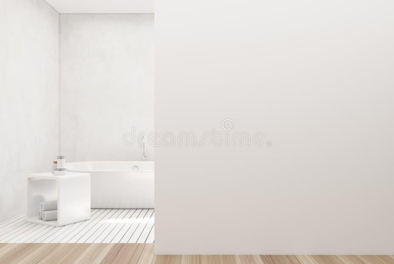 Witte badkamers, witte ton, muur royalty-vrije illustratie