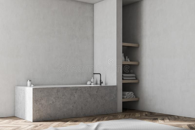 Witte badkamershoek, marmeren ton stock illustratie