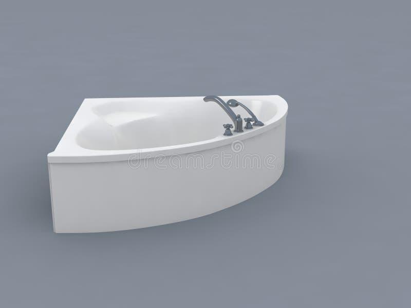 Witte badkuip royalty-vrije stock fotografie