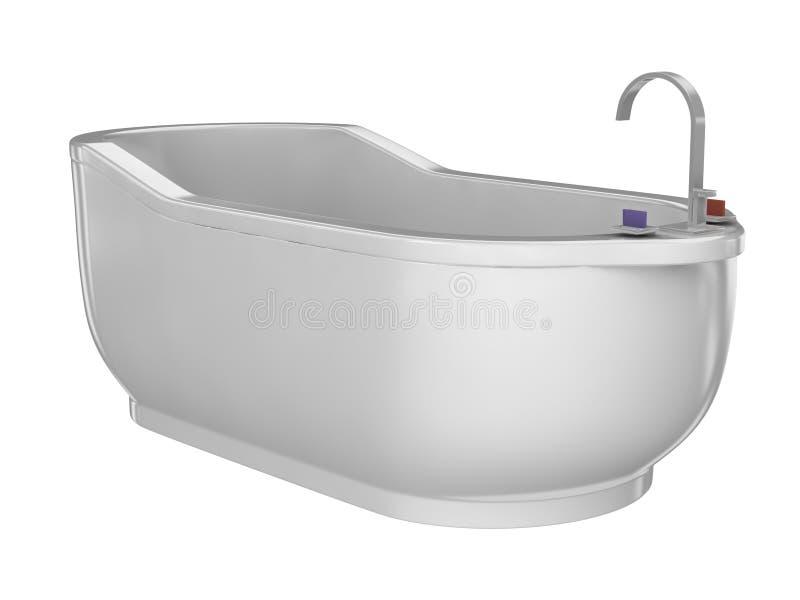 Witte badkuip royalty-vrije stock afbeelding