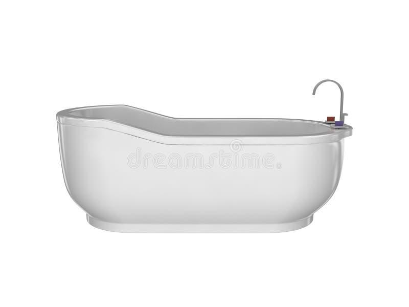 Witte badkuip stock fotografie
