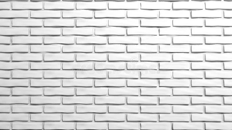 Witte bakstenen muur royalty-vrije illustratie