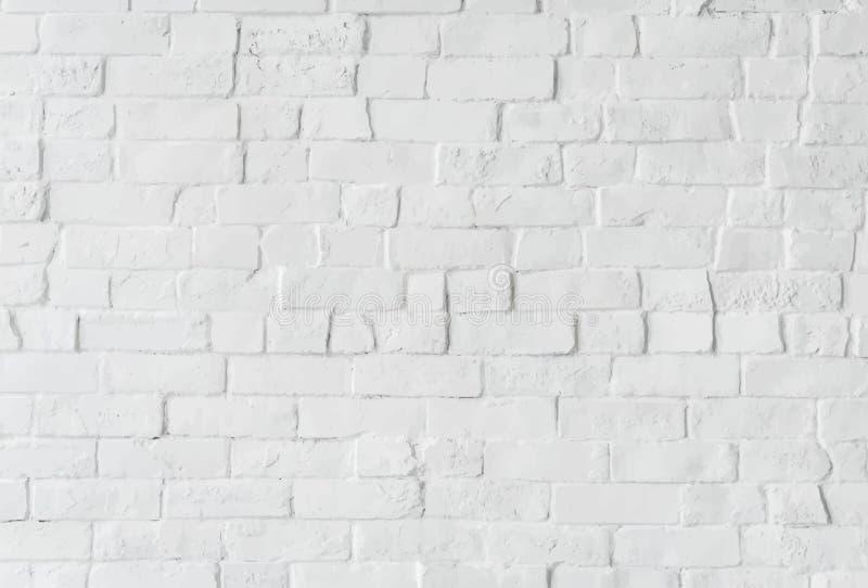 Witte bakstenen muur met ontwerpruimte stock foto