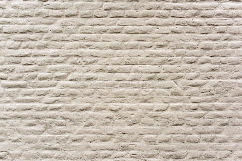 Witte bakstenen muur - sluit omhoog stock foto