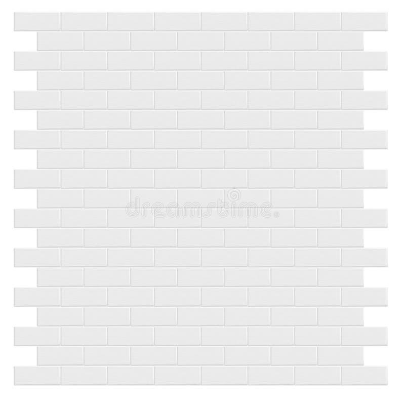 Witte bakstenen muur Vector illustratie vector illustratie