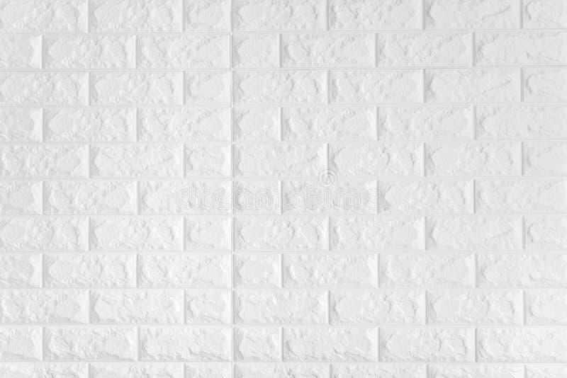 Witte bakstenen muurachtergrond stock foto's