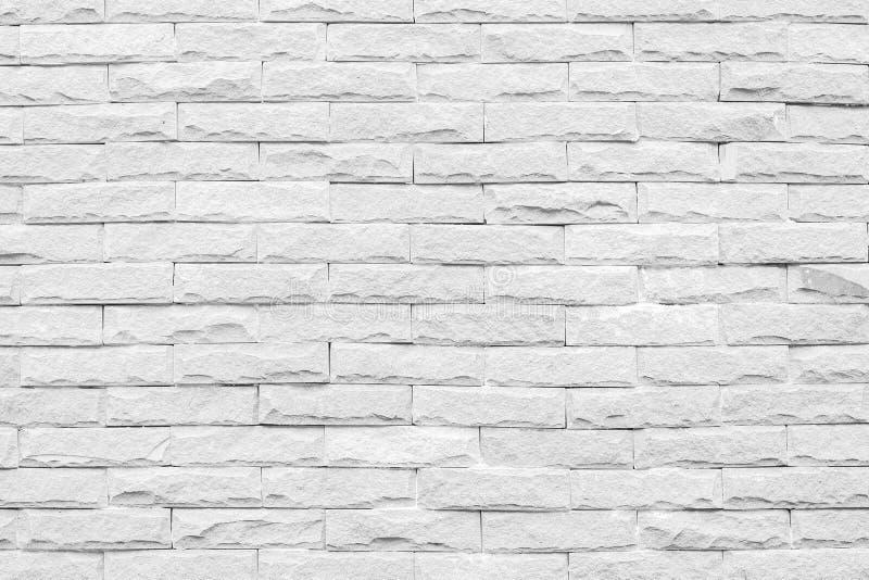 Witte bakstenen muurachtergrond het grijze beton van de textuursteen, de gipspleister van het rotspleister stock fotografie