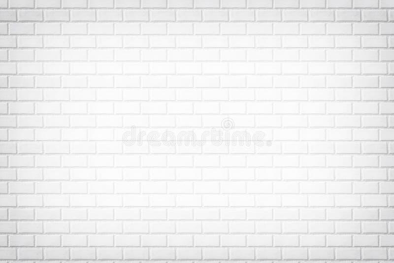 Witte bakstenen muurachtergrond, steentextuur vector illustratie