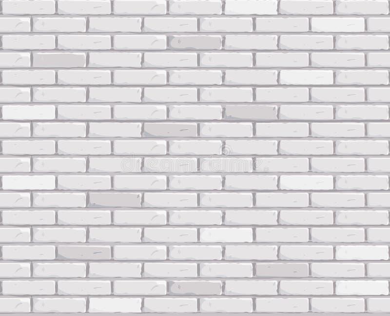 Witte bakstenen muurachtergrond Textuur Naadloze Vectorillustratie Vector royalty-vrije illustratie