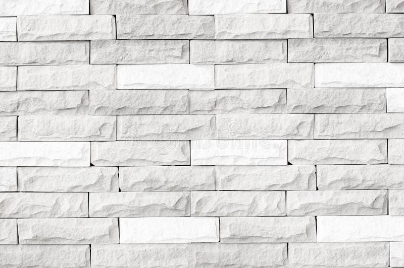 Witte bakstenen muurtextuur/witte bakstenen muurtextuur van modern ideaal voor achtergrond en gebruikt in binnenlands ontwerp royalty-vrije stock fotografie