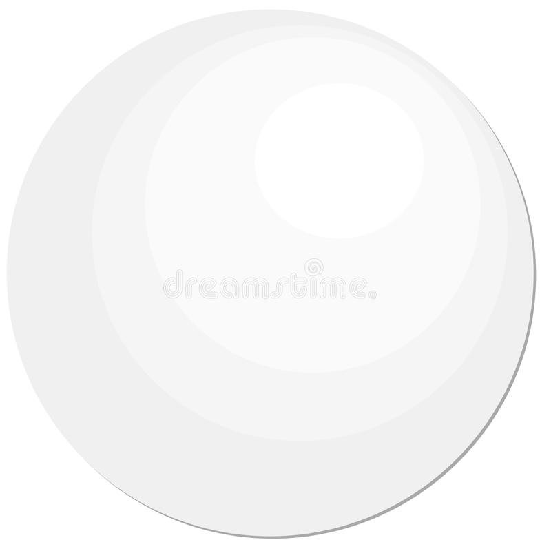 Witte Bal met grijs aan de gradiënt duidelijke vectorillustratie van de witte gloedillusie stock illustratie