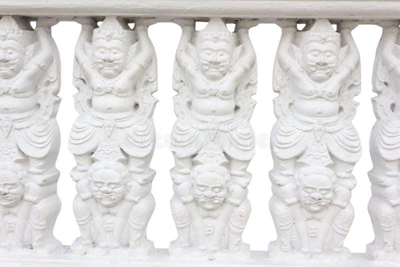Witte Balustrade royalty-vrije stock fotografie