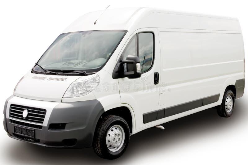 Witte bestelwagen royalty-vrije stock foto