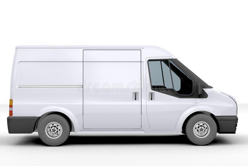 Witte bestelwagen stock illustratie