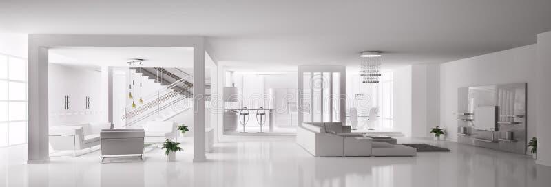 Witte binnenlandse 3d van de Flat vector illustratie