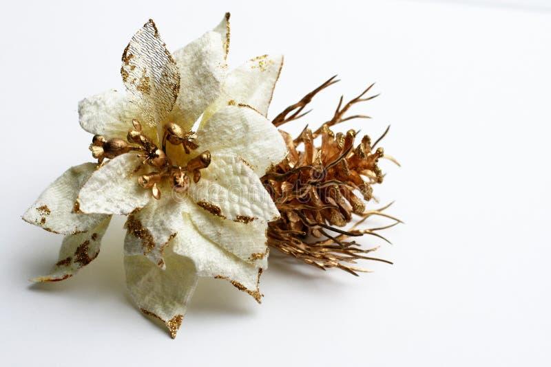 Witte bloemdecoratie stock foto's